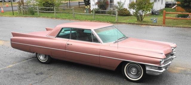 1963 63 Cadillac Coupe Deville Pink Survivor 58 045 Original Miles