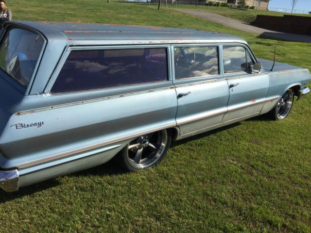 1963 Chevrolet Biscayne Base 3 8l Impala Belair Bel Air Wagon Rat Rod Patina For Sale  Photos