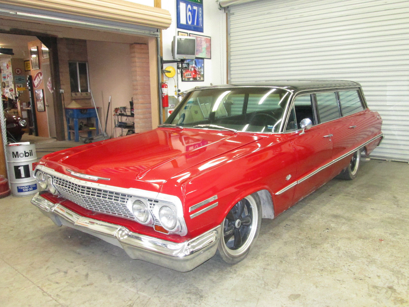 1963 chevy impala station wagon stationwagon fourdoor four door for sale in tucson arizona. Black Bedroom Furniture Sets. Home Design Ideas