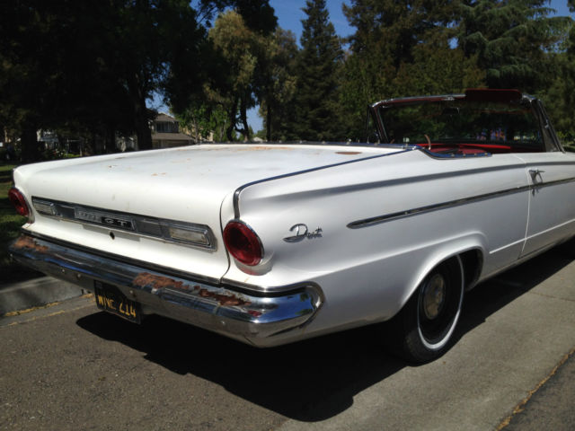 1963 dodge dart 270 convertible aluminum slant 6 for sale. Black Bedroom Furniture Sets. Home Design Ideas