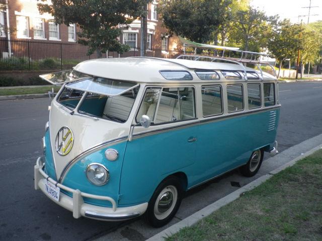 1963 Vw German Bus 23 Window Rag Top For Sale Photos