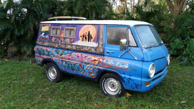 1964 Dodge A 100 Van Retro Surf Wagon Hippie Old School
