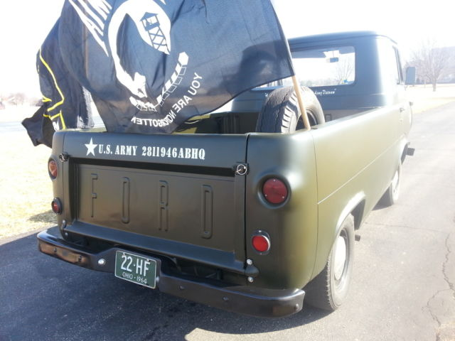 1964 Econoline E100 Us Army Truck 6cly 3 Speed Nice Truck