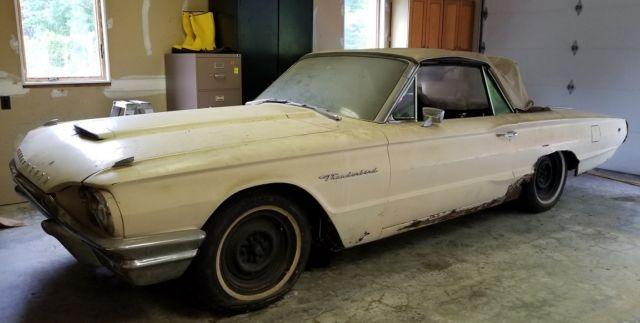 1964 ford thunderbird 2 door convertible runs extra parts garaged for 20 yrs. Black Bedroom Furniture Sets. Home Design Ideas