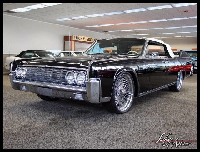 1964 lincoln continental convertible custom sound system air ride 22 39 s 87. Black Bedroom Furniture Sets. Home Design Ideas