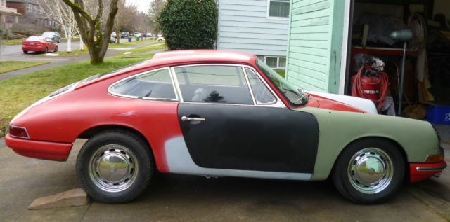 1965 65 porsche 911 nice project cofa kardex clean title 300717 early 65 car. Black Bedroom Furniture Sets. Home Design Ideas
