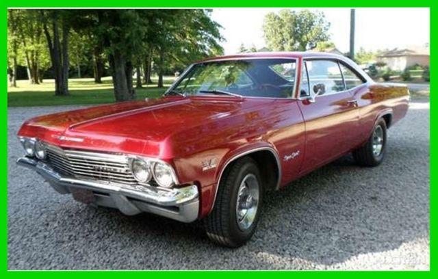 1965 chevrolet impala super sport 396ci v8 4 speed manual. Black Bedroom Furniture Sets. Home Design Ideas