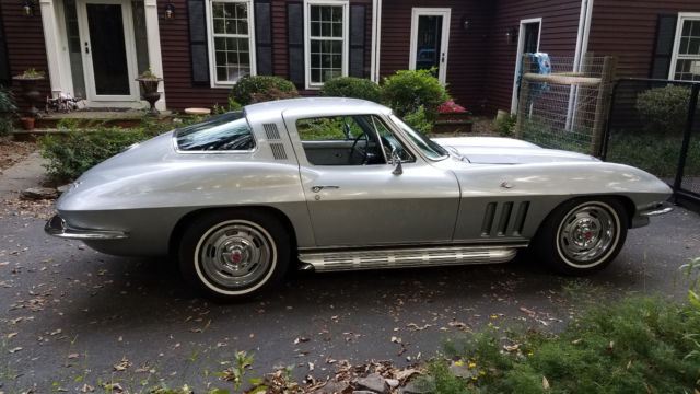 1965 Corvette Coupe Rare SilverSilver L79 Matching