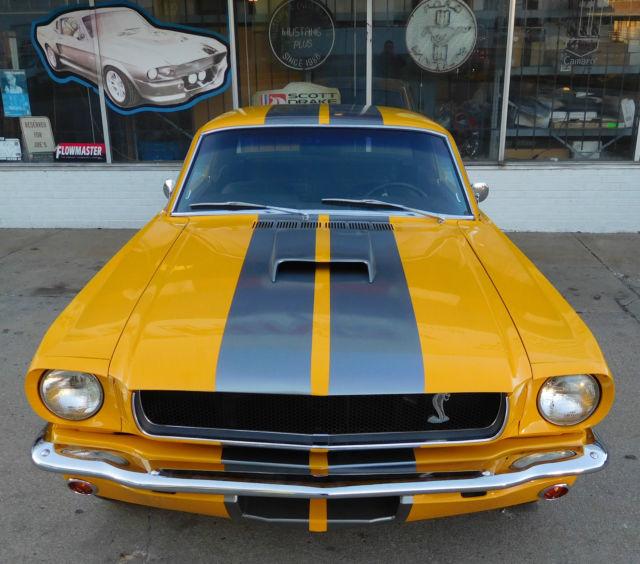 Black Mustang Silvers: 1965 FORD MUSTANG CUSTOM RESTOMOD SCREAMIN YELLOW W SILVER