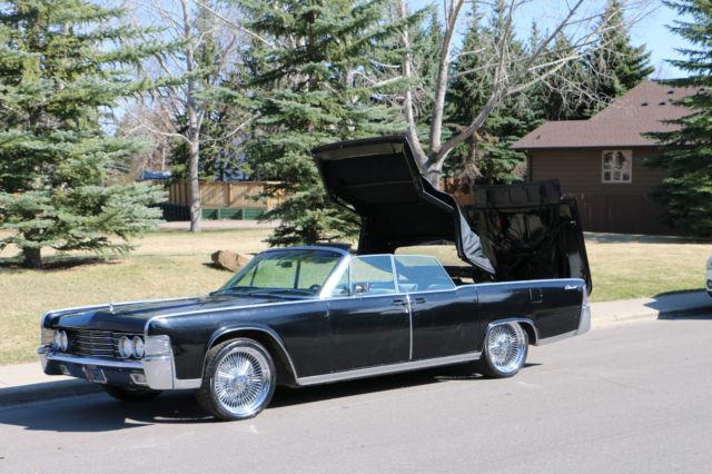 1965 lincoln continental convertible black entourage car for sale in calgary alberta canada. Black Bedroom Furniture Sets. Home Design Ideas