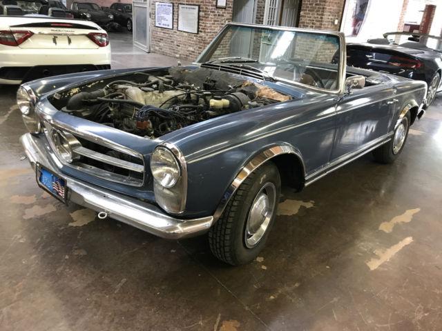 1965 mercedes benz 230sl blue for Mercedes benz 230 sl