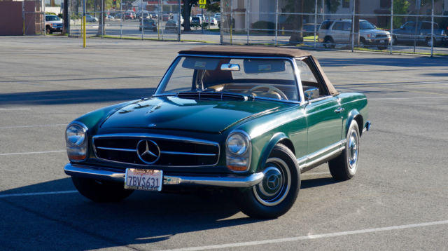 1965 mercedes benz 230sl original dark green paint 4 for Mercedes benz manual transmission for sale