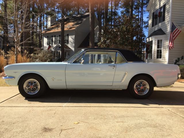 1965 Mustang Coupe with rare Deluxe Pony Package option