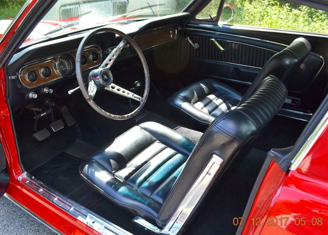 1965 Mustang Fastback A Code 289 4spd Solid Beautiful Red Black Pony Interior