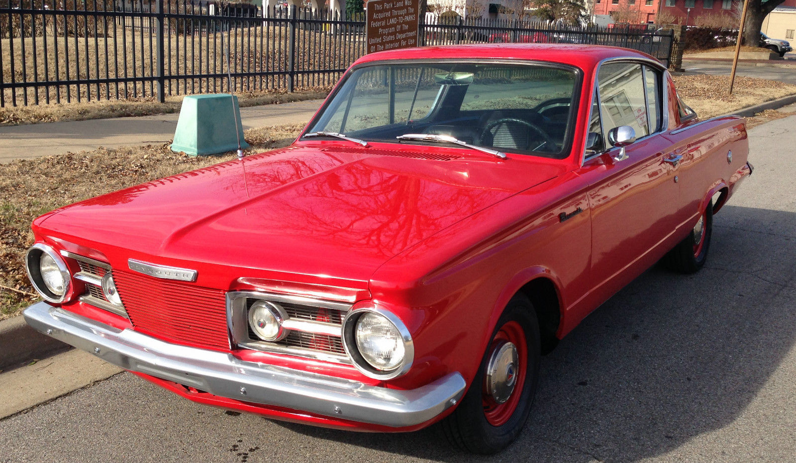 1965 plymouth barracuda originally red with black the for Barracuda fish for sale