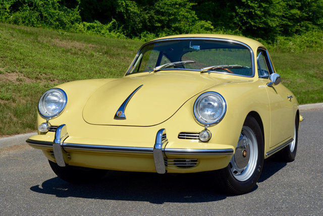 1965 Porsche 356 Sc Coupe In Champagne Yellow With Green