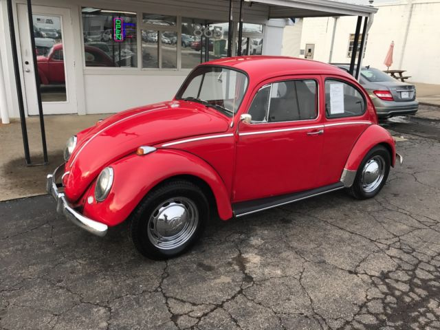 1965 Volkswagen Beetle Bug Bright Red W 1600cc Engine