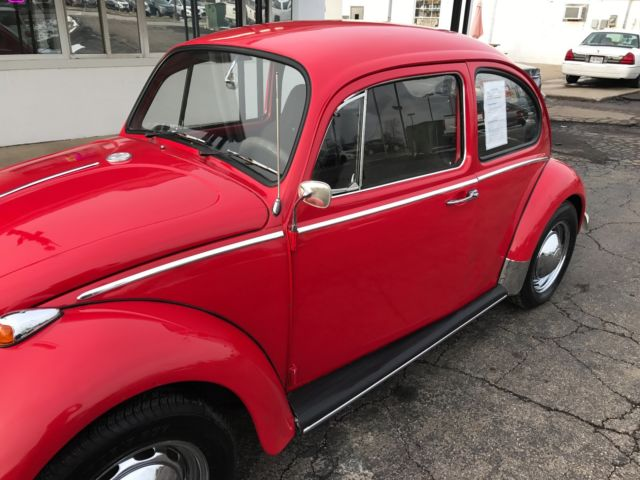 1965 Volkswagen Beetle Bug Bright Red W 1600cc Engine Must See To Appreciate