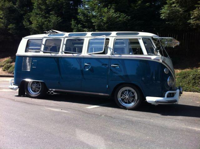 1965 volkswagen original 21 window walk thru deluxe bus for 1965 vw 21 window bus