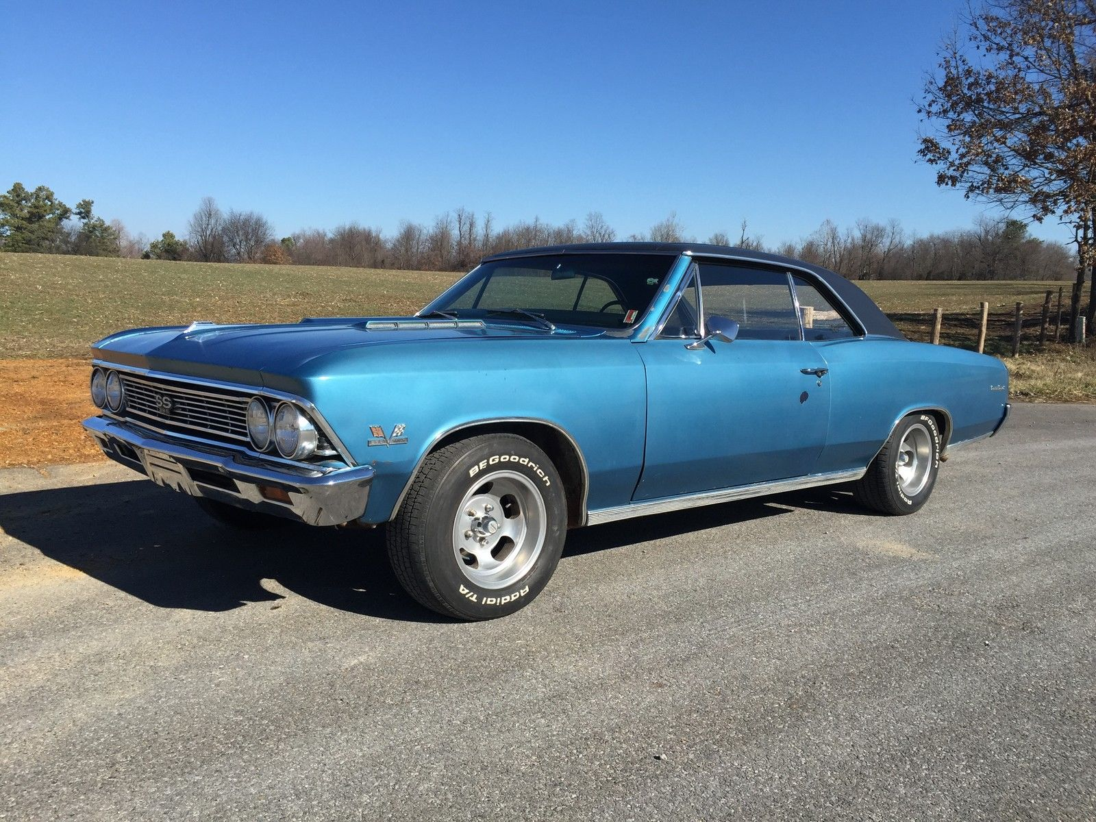 1966 Chevelle Ss396 4speed Buckets Console Stored Last 25 Years Chevrolet Ss 396