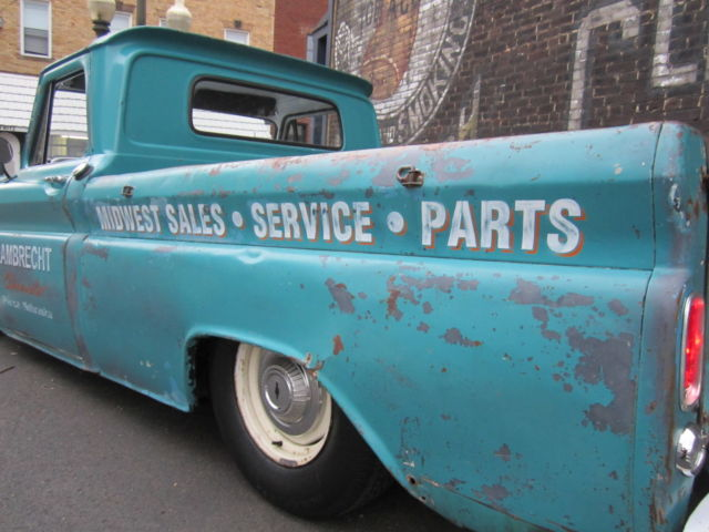 1966 Chevrolet C10 Short Bed Fleetside Air Ride Bagged Patina Shop Truck No Rat for sale in