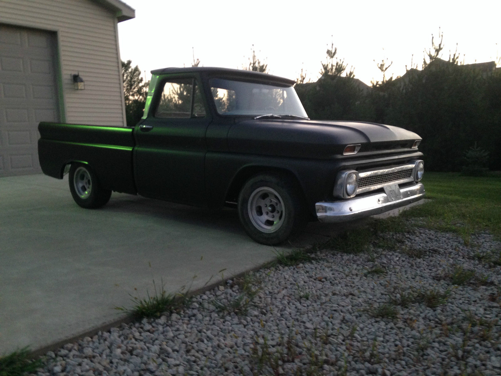 1966 Chevrolet Custom Short Bed Fleetside Truck Project Low Reserve Chevy C10 Slammed For Sale In Washington Illinois United States