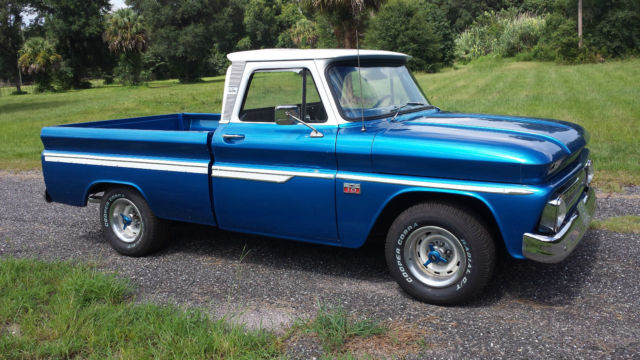 1966 classic chevy chevrolet custom c 10 fleetside shortbed pickup truck blue for sale in. Black Bedroom Furniture Sets. Home Design Ideas
