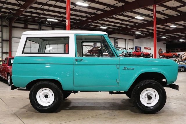 Ford Bronco Miles Teal Suv Cylinder Speed Manual