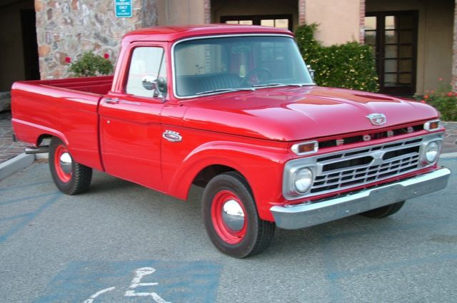 Ford F Red Classic Shortbed Pick Up Truck Restoredmotivated Sellerobo
