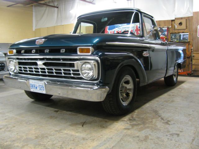 1966 ford f100 custom cab short box for sale in london ontario canada. Black Bedroom Furniture Sets. Home Design Ideas