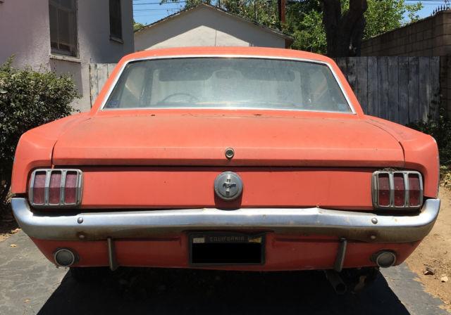 1966 Ford Mustang 200 Cu In 3 3l I 6 Original Owner