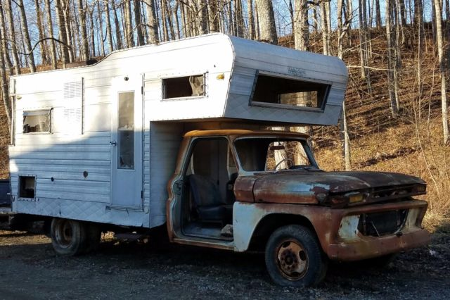1966 Gmc One Ton Factory Camper Truck For Parts