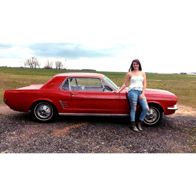 Ford Mustang For Sale In Ga: 1966 In-line 6 Candy Apple Red MUSTANG