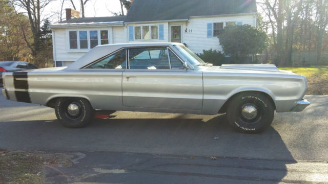 1966 Plymouth Satellite 440 Silver And Black Black Interior For Sale In Pelham New Hampshire