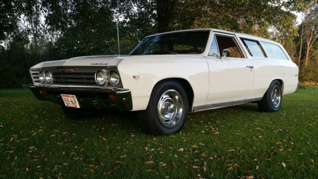Chevelle Two Door Wagon Custom One Off White Door Chevelle on Wisconsin Engine Specifications