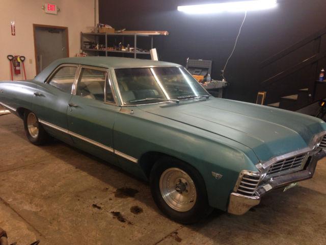 1967 cheverolet impala 4 door supernatural car no reserve metallicar for sale in aurora ohio. Black Bedroom Furniture Sets. Home Design Ideas