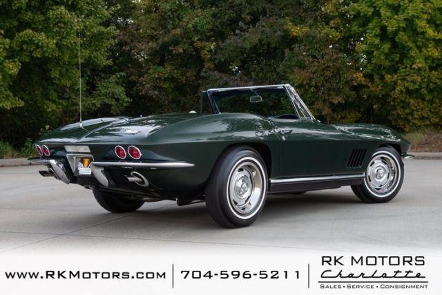 1967 Chevrolet Corvette Goodwood Green Convertible 327 V8