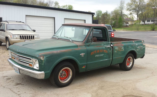 1967 chevy c10 lowered short bed swb fleetside patina shop truck for sale in union missouri. Black Bedroom Furniture Sets. Home Design Ideas