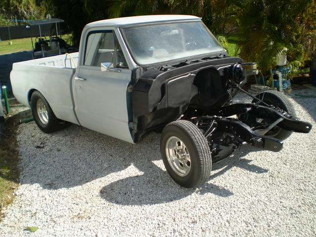 Chevy C Swb Ss Minitubbed Prostreet Look Satin Black Shortbed Wd