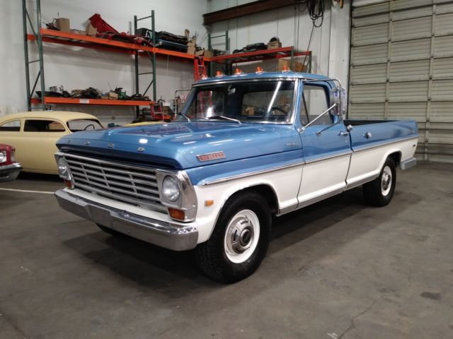 1967 Ford F250 Ranger Camper Special Fresh 390 C6 Paint