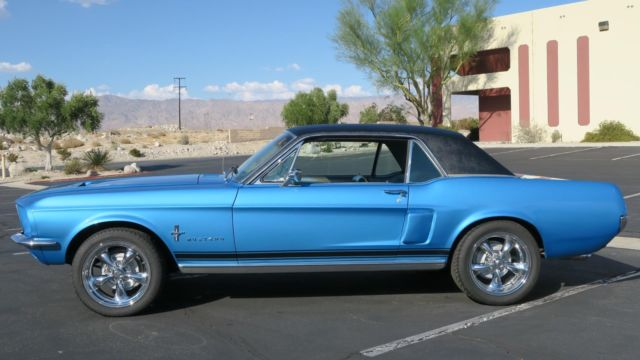 1967 Ford Mustang 289 V8 C Code P S Acapulco Blue