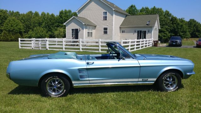1967 Ford Mustang Convertible Ps Pb Disc Pwr Top Marti