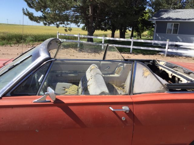 1967 Mercury Monterey Convertible Actual Original Red Car From Arizona 390 V8