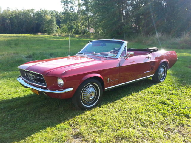 1967 mustang convertible red fully restored for sale in. Black Bedroom Furniture Sets. Home Design Ideas