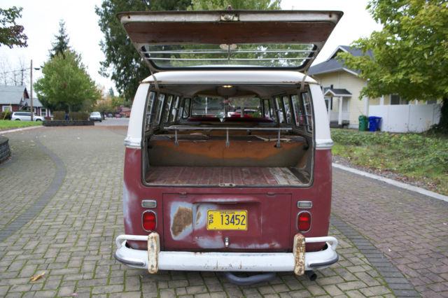1967 vw bus 13 window deluxe kw; barndoor 15 window 21 ...