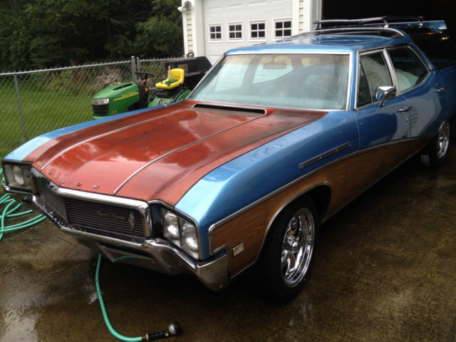 1968 buick sport wagon 400 gs grand sport 74 000 miles clean station wagon for sale in traverse. Black Bedroom Furniture Sets. Home Design Ideas