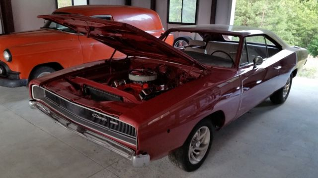 1968 charger solid rust free project car 440 727 auto. Black Bedroom Furniture Sets. Home Design Ideas