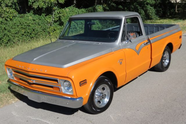 1968 chevrolet c10 pick up truck hot rod street rod rat rod 1967 1968. Black Bedroom Furniture Sets. Home Design Ideas