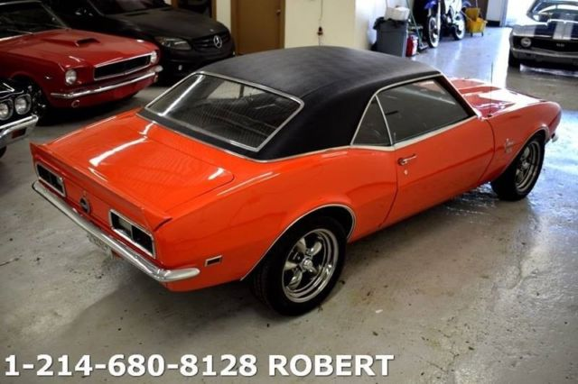 1968 Chevrolet Camaro Ss 327 V8 55 467 Miles Orange Coupe