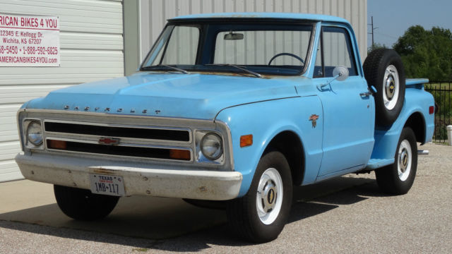 1968 Chevy Chevrolet C10 C 10 Stepside Shortbed Not Gmc One Owner